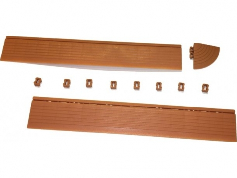 products/Бордюр к садовой плитке Helex терракотовый, арт. HL401