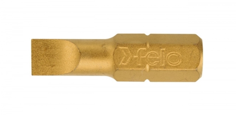 products/Felo Бита Плоская шлицевая серия TiN 6,5X1,2X25, 10 шт 02061070
