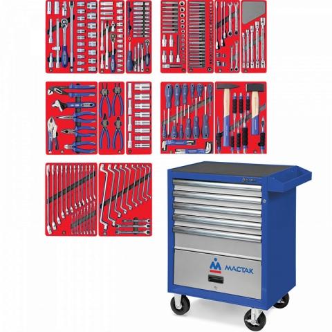 "products/52-05270B, МАСТАК Набор инструментов ""ЛИДЕР"" в синей тележке, 270 предметов"