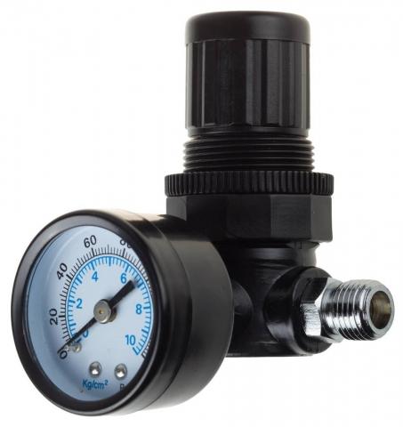 "products/Манометр KRAFTOOL ""INDUSTRIE"" с регулятором подачи воздуха, 1/4"", максимальное давление 10 атмосфер 06503"