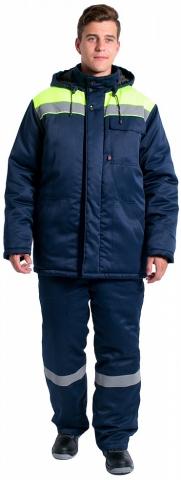 products/Куртка зимняя Эксперт-Люкс NEW (тк.Смесовая,210), т.синий/лимонный