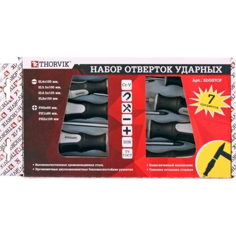 products/SDGS7CP Thorvik Набор отверток стержневых ударных, 7 предметов
