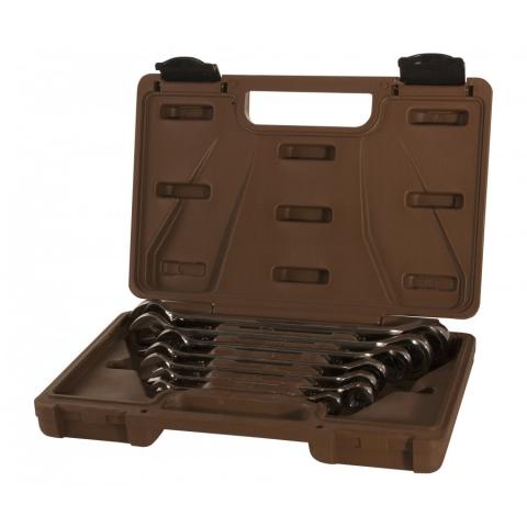 products/935007 Набор ключей гаечных комбинированных трещоточных SNAP GEAR Ombra, 8-19 мм, 7 предметов