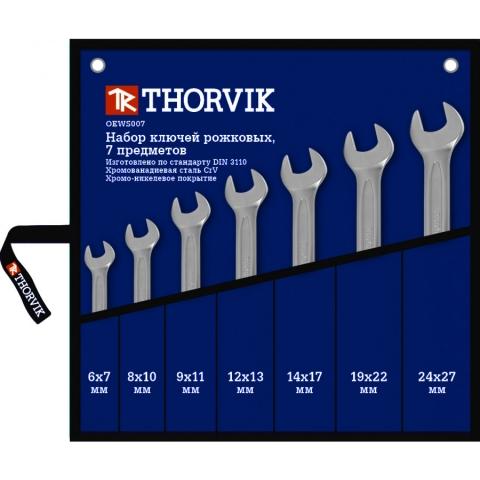 products/OEWS007 Thorvik Набор ключей гаечных рожковых в сумке, 6-27 мм, 7 предметов