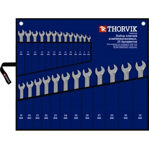 products/CWS0025 Thorvik Набор ключей комбинированных в сумке 6-32 мм 25 предметов