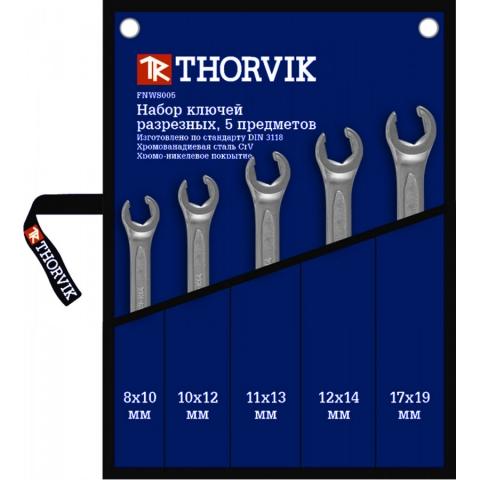 products/FNWS005 Thorvik Набор ключей разрезных в сумке 8-19 мм 5 предметов