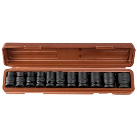 """products/912411 Ombra Набор головок торцевых для ударного инструмента 1/2""""DR, 10-24 мм, 11 предметов"""