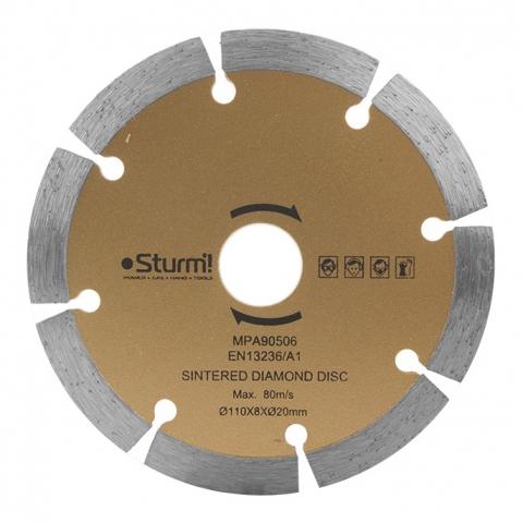 products/TC9811-990 Алмазный диск Sturm, диам. 110мм, сегментный, совместим с: TC9811