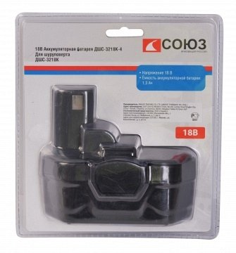 products/Аккумулятор СОЮЗ для ДШС-3218, 18В, 1.3Ач, NiCd