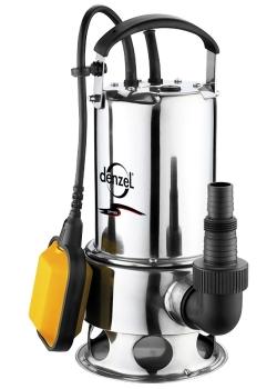 products/Дренажный насос Denzel DP1100, 1100 Вт, подъем 11 м, 15500 л/ч, металл (арт. 97224)