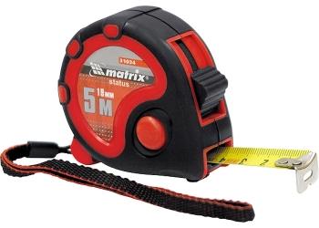products/Рулетка Status 3 fixations, 5 м х 25 мм, двухкомпонентный корпус, 3 фиксации ленты MATRIX