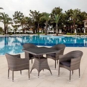 products/Комплект мебели  (иск. ротанг)  4+1 T220BG/Y350BG-W1289 Pale 4Pcs