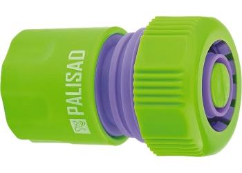 products/Соединитель пластмассовый быстросъемный для шланга 3/4 дюйма, аквастоп PALISAD