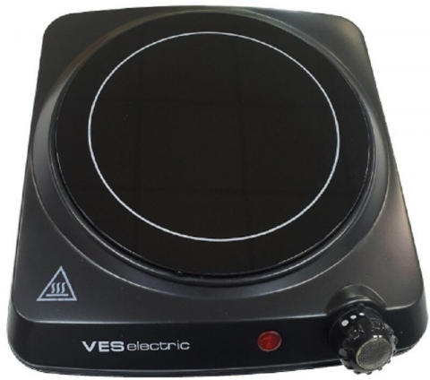 products/CP-101 Электроплитка инфракрасная VES, 1200 Вт, 177 мм, рег.темп., черный