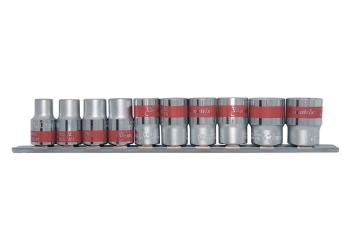 products/Набор универсальных торцевых головок 3/ дюйма, Spline, CrV, 10шт., 8-19мм MATRIX