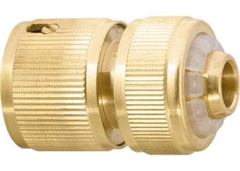 products/Соединитель латунный быстросъемный для шланга 1/2 дюйма, аквастоп PALISAD