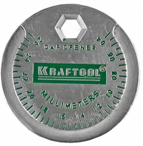 products/Измеритель зазора свечи KRAFTOOL с градуировкой, 0,4-2,6 мм 43258