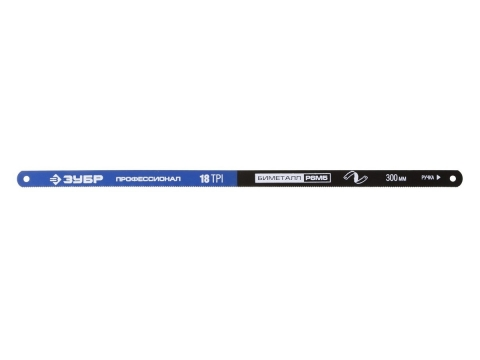 products/Полотно ЗУБР ПРОФЕССИОНАЛ по металлу, биметаллическое 18TPI, шаг 1,4мм, 300мм, 50шт 15855-18-50