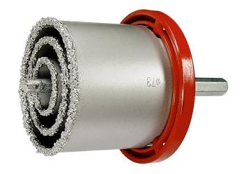 products/Набор коронок по керамич. плитке, 33-53-67-73-83 мм + напил., в пласт.боксе, 6-гран.хвост. MATRIX