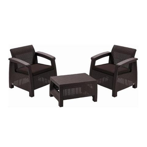 products/Комплект садовой мебели Keter CORFU II WEEKEND SET brown Артикул: 17197786B