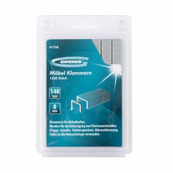 products/Скобы, 8 мм, для мебельного степлера, усиленные, тип 140, 1250 шт. GROSS