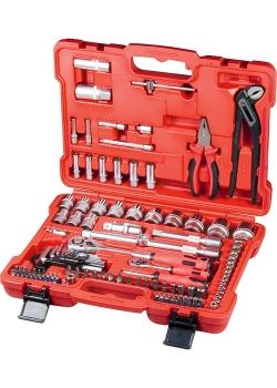 products/Набор слесарно-монтажный с квадратами 1/4, 1/2 и 5/16 дюйма, 117 предм. MATRIX PROFI