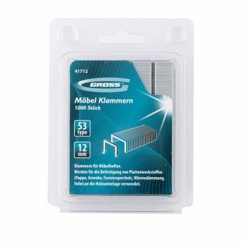products/Скобы, 12 мм, для мебельного степлера, усиленные, тип 53, 1000 шт. GROSS