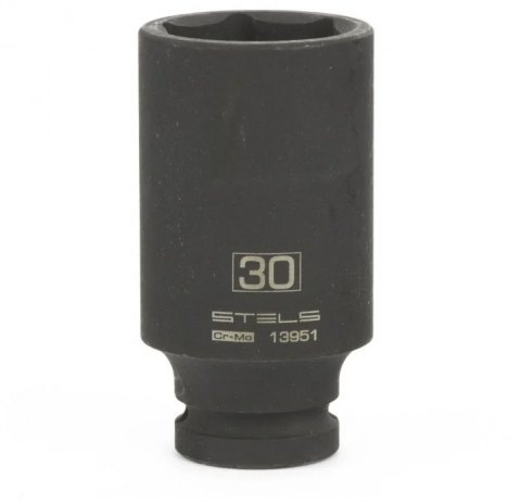 "products/Головка ударная удлиненная шестигранная, 30 мм, 1/2"", CrMo// Stels,13951"
