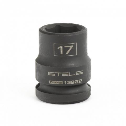 """products/Головка ударная шестигранная, 17 мм, 1/2"""", CrMo// Stels,13922"""