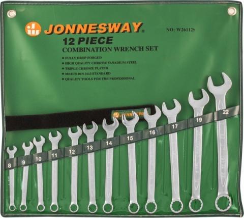 products/W26112S Jonnesway Набор ключей гаечных комбинированных в сумке, 8-22 мм, 12 предметов