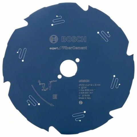 products/Пильный диск по фиброцементу/гипсокартону Expert for Fiber Cement 210x30x2.2/1.6x6T Bosch 2608644345