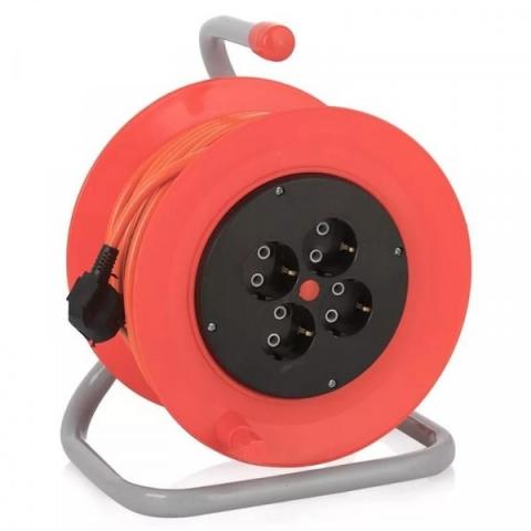 products/Удлинитель 4 гн , 3*1мм, 40м, катушка, оранжевый кабель OXP-19B, Кратон, арт. 2 37 01 008