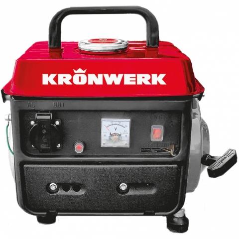 products/Генератор бензиновый LK-950, 0,8 кВт, 230 В, 2-х такт., 4 л, ручной стартер, Kronwerk, арт. 94667