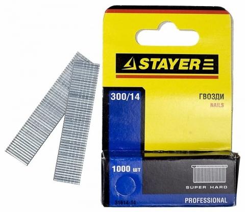 products/Гвозди закаленные для степлера 1000 шт. (тип 300; 12 мм), Stayer, арт. 31614-12