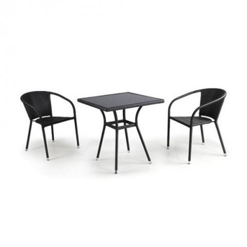 products/Комплект мебели(иск. ротанг)  2+1 T282BNS/Y137C-W53 Brown 2Pcs