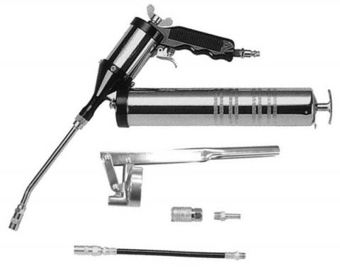 products/JAT-360K Jonnesway Нагнетатель консистентных смазок пневматический, 6 предметов