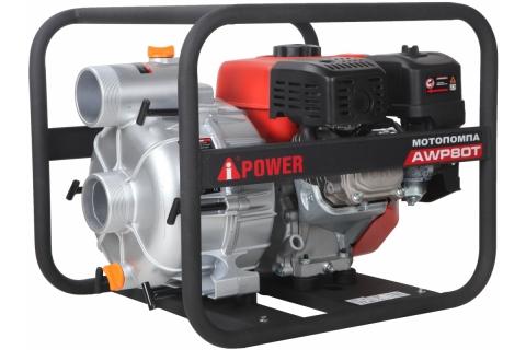 products/Бензиновая мотопомпа для грязной воды A-iPower AWP80Т, арт. 30231