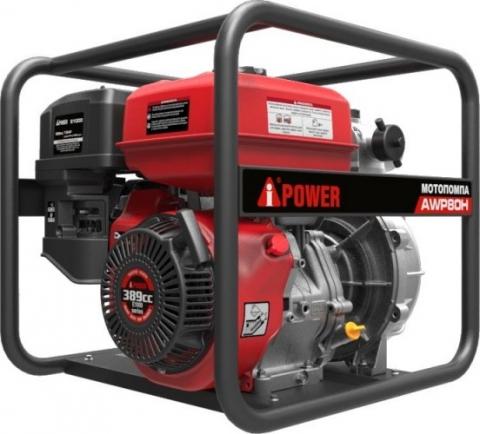 products/Мотопомпа бензиновая для слабозагрязненной воды высоконапорная A-iРower AWP80Н, арт.  30431