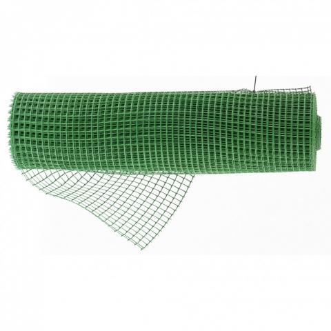 products/Решетка заборная в рулоне, облегченная, 0,8 х 20 м, ячейка 17 х 14 мм, пластиковая, зеленая, Россия, арт. 64522