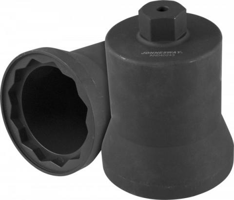 products/AN040243 Jonnesway Головка торцевая с внешним приводом Н36 мм, 12-гранная, 95 мм, для ступичных гаек грузовых автомобилей Mercedes.