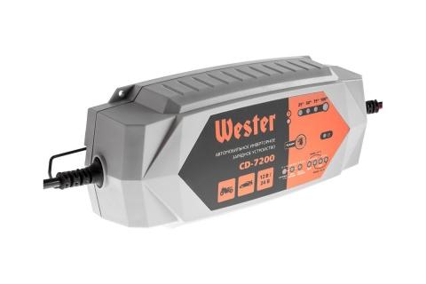 products/356927 Зарядное устройство WESTER CD-7200 для АКБ 12 В/24 В, макс 7 А, АКБ до 230 Ач