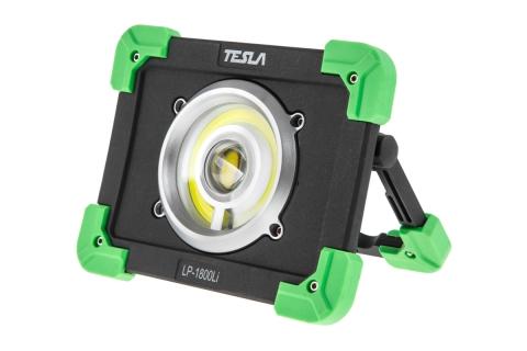 products/628651 Прожектор противоударный TESLA PWPB (LP-1800Li блистер) 20 Вт, 1800 люмен, powerbank, аккумулятор 6000 мАч