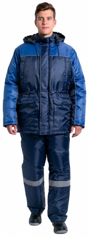 products/Куртка зимняя для инженера NEW (тк.Оксфорд), т.синий/васильковый