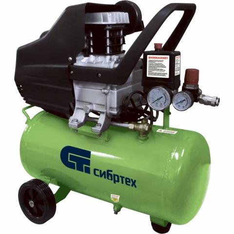 products/Компрессор воздушный СибрТех КК-1100/22, 1,1 кВт, 135 л/мин, 22 л, прямой привод, масляный (арт. 58036)