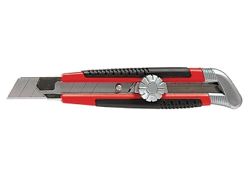 products/Нож, 18 мм, выдвижное лезвие, металлическая направляющая, винтовой фиксатор лезвия MATRIX