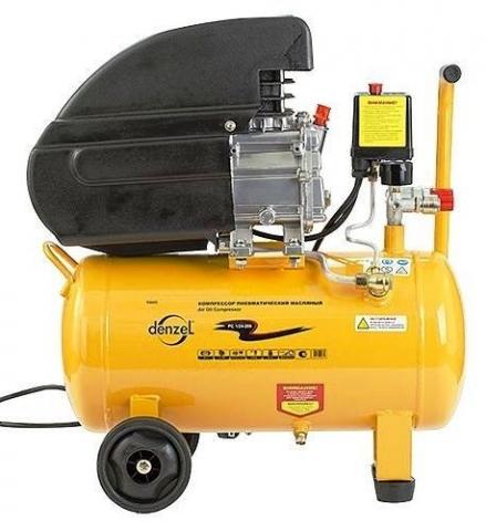 products/Компрессор воздушный Denzel PC 1/24-205, 1,5 кВт, 206 л/мин, 24 л, 8 бар, прямой привод, масляный (арт. 58061)