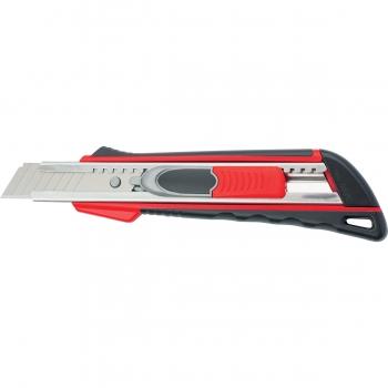 products/Нож, 18 мм выдвиж. лезвие Quik Blade мет. направл., двойная фикс., эргоном. двухком.рук. MATRIX