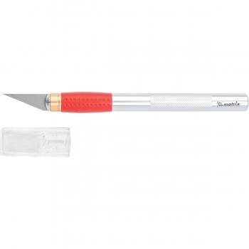 products/Нож для дизайнерских работ, двухкомпонентная рукоятка + 5 запасных лезвий MATRIX