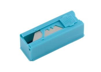 products/Лезвия, 19 мм, трапециевидные, пластиковый пенал, 12 шт. GROSS