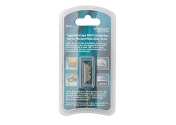products/Лезвия МИНИ, 9 мм, трапециевидные, пластиковый пенал, 15 шт. GROSS